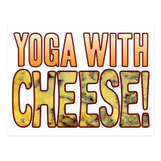 Yoga Blue Cheese Postcard