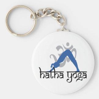 Yoga boca abajo de Hatha del perro Llaveros Personalizados