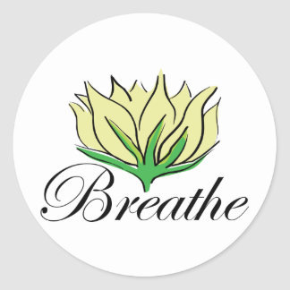 Yoga Breathe Classic Round Sticker