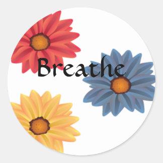 Yoga Breathe Classic Round Sticker