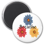 Yoga Breathe Fridge Magnets