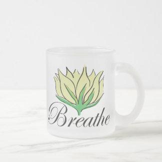 Yoga Breathe Gift 10 Oz Frosted Glass Coffee Mug