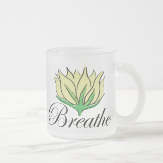 Yoga Breathe Gift Frosted Glass Coffee Mug