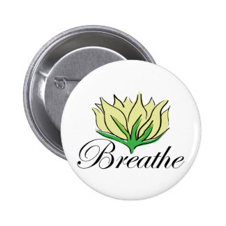 Yoga Breathe Pinback Button