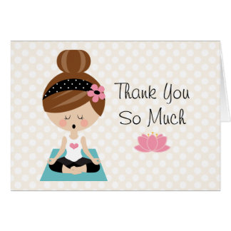 Yoga Bridal Shower Thank You Cards