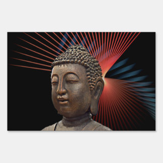 Yoga Buddha Relaxing Style Lawn Sign