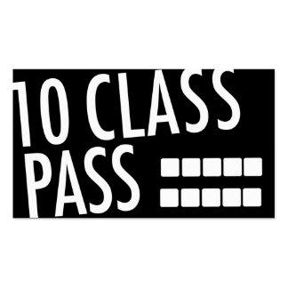 Yoga Business Card 10 Class Pass Business Card