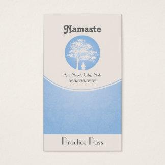 Yoga Business Card 10 Class Pass Template