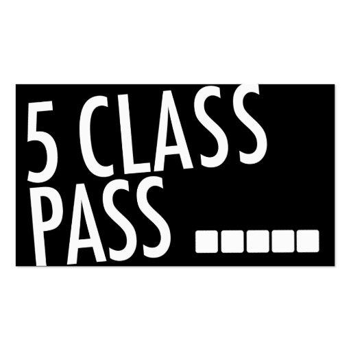 Yoga Business Card 5 Class Pass Business Card Templates