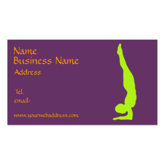yoga business card fully customizable