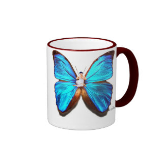 YOGA BUTTERFLY CUP - POSTURE AND BUTTERFLY RINGER COFFEE MUG