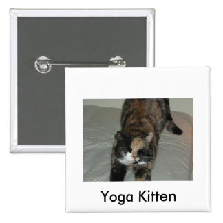 Yoga Calico Kitty Cat Pins