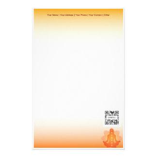 Yoga caliente de la plantilla de los efectos de es papelería de diseño