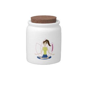 Yoga Candy Jar