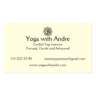Yoga cards OM Business Card Templates