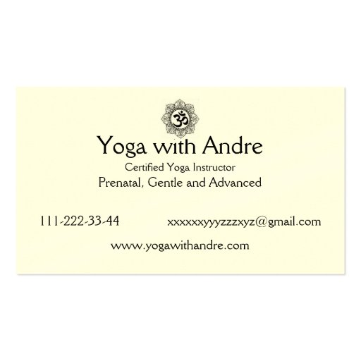 Yoga cards OM Double-Sided Standard Business Cards (Pack Of 100)