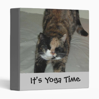 Yoga Cat 3 Ring Binder