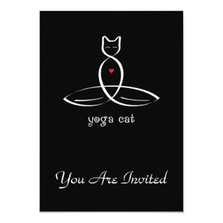 Yoga Cat - Fancy style text. Card