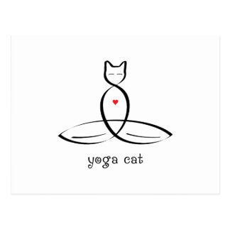 Yoga Cat - Fancy style text. Postcard