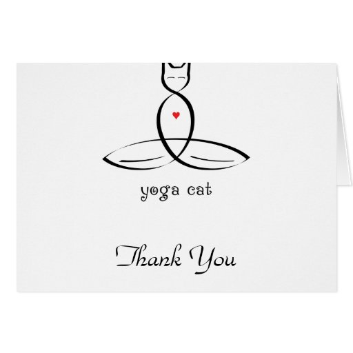 Yoga Cat - Fancy style text. Stationery Note Card