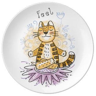 Yoga Cat Plate