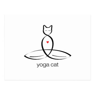 Yoga Cat - Regular style text. Postcard