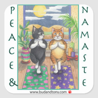Yoga Cats Bud & Tony Sticker
