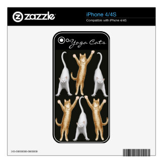 Yoga Cats Customizable Zazzle Skin Decal For iPhone 4