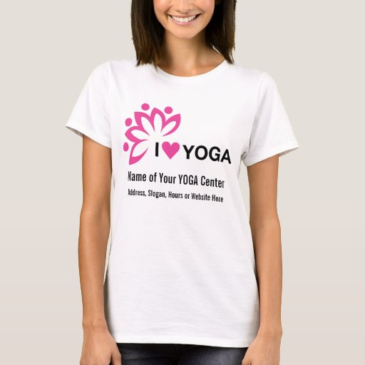 Yoga center add your own text design on front t shirt for T shirt design upload picture