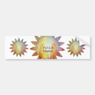 Yoga Chakra Pegatina De Parachoque