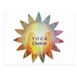 Yoga Chakra Postcard