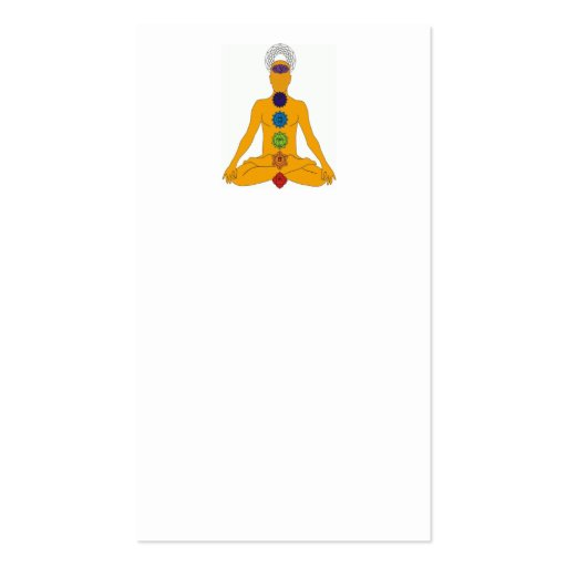 yoga chakras business card template