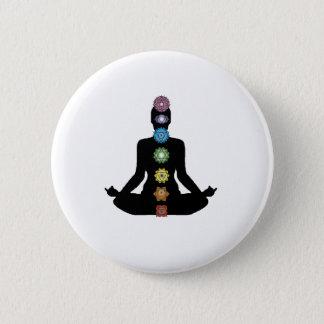 Yoga Chakras Button