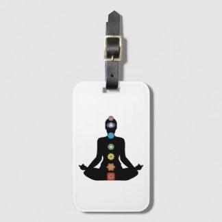Yoga Chakras Fitness Exercise Bag Tag