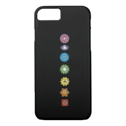 yoga chakras iPhone 8/7 case