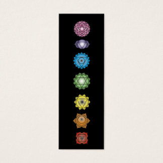 yoga chakras mini business card