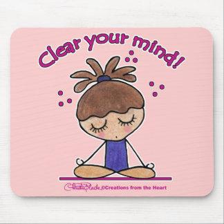 Yoga Chica-Clara su mente Mouse Pad
