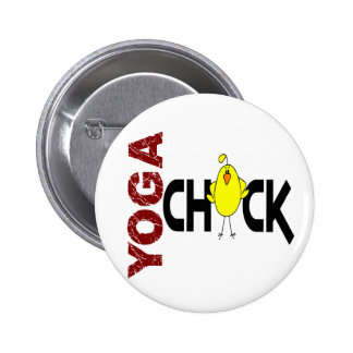 Yoga Chick 1 Button