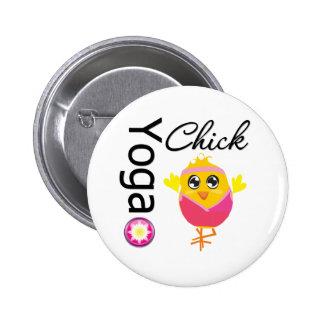 Yoga Chick Pin