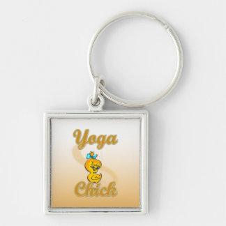 Yoga Chick Keychain