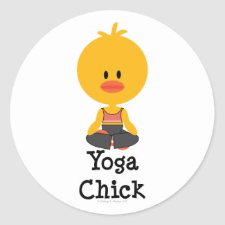 Yoga Chick Stickers