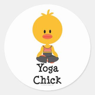 Yoga Chick Stickers