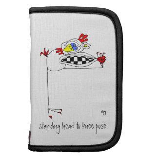 Yoga-Chicken Standing Head to Knee Pose Folio Mini Organizer