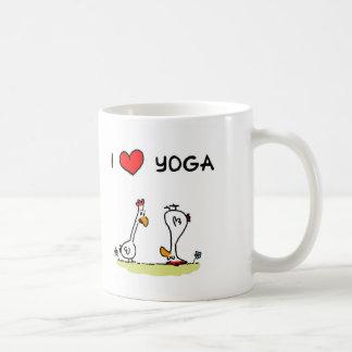 Yoga chickens coffee mug