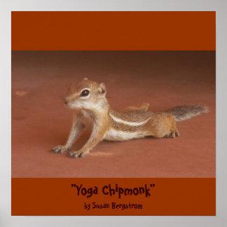 """Yoga Chipmonk"" by Susan Bergstrom Print"