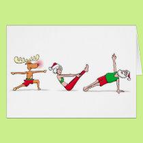Yoga Christmas Card
