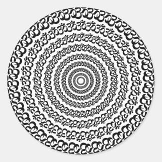 yoga circle classic round sticker