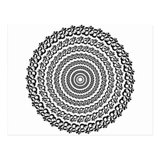 yoga circle postcard