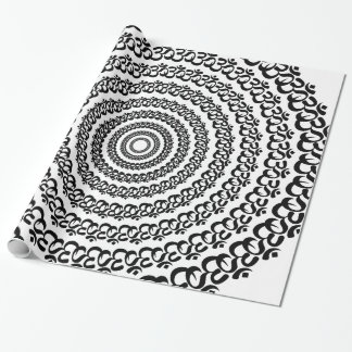 yoga circle wrapping paper