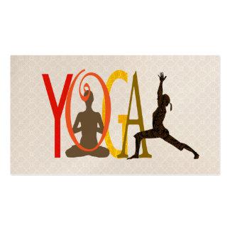 Yoga clásica del diseño de letras de modelo tarjetas de visita